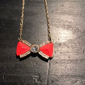 "J. Crew 18"" bow tie necklace"